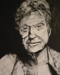 ROBERT REDFORD ACRYLIC ON CANVAS 2014