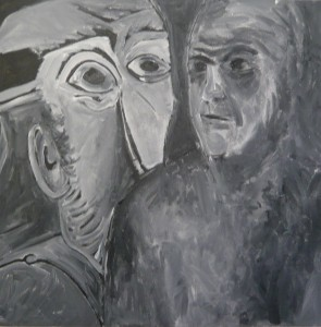 SELF PORTRAIT WITH PICASSO 2013